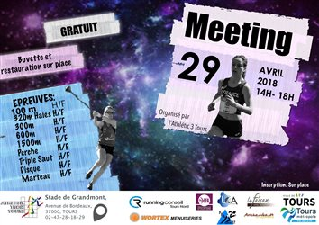 Dimanche 29 Arril 2018 - Meeting Cadets à Seniors à Grandmont